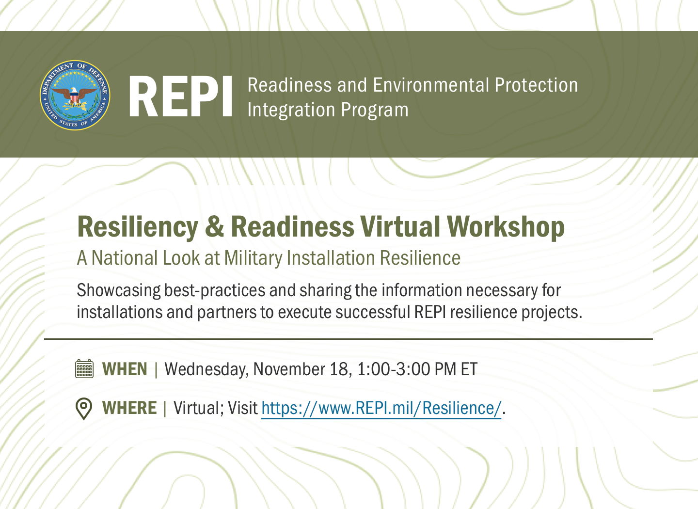 2020 REPI Resilience Workshop - Recording Now Available